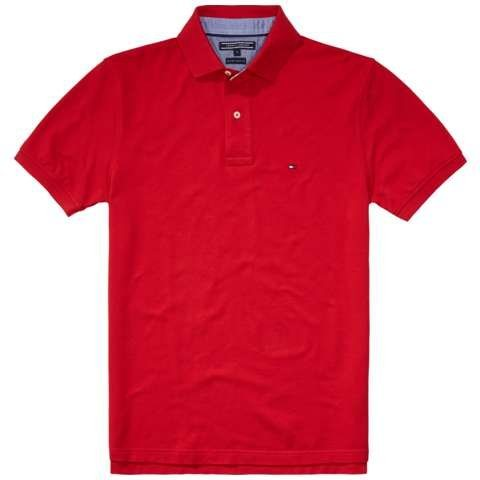 Tommy Hilfiger Poloshirts (kurzarm) »CORE / NEW TOMMY KNIT S/SL« in APPLE RED