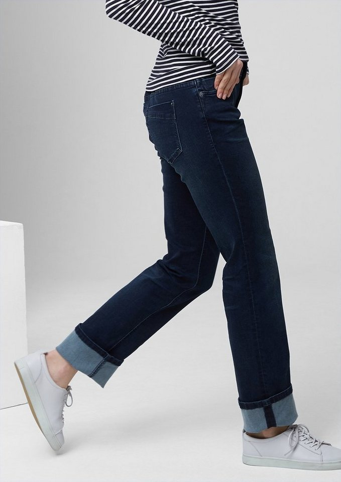 s.Oliver RED LABEL Smart Straight: Tonige Stretch-Jeans in india ink stretch