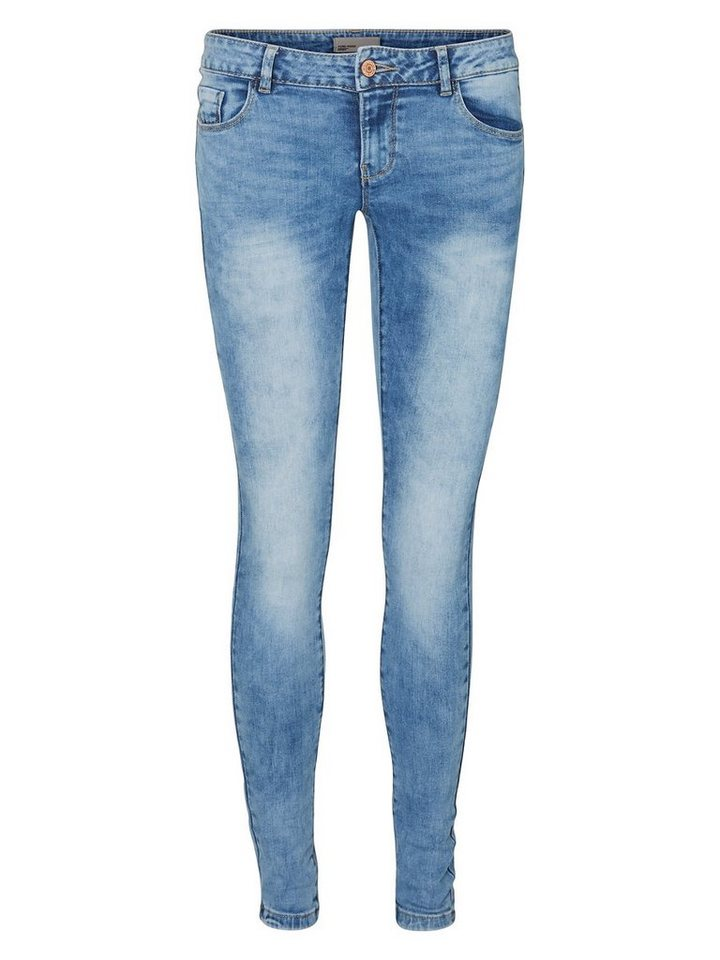 Vero Moda Five NW Skinny Fit Jeans in Light Blue Denim
