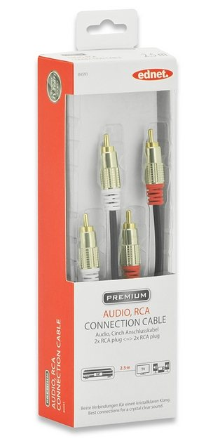 Ednet TV/Video/Audio »Cinch-Anschlusskabel Stereo RCA Anschlusskabel 2.5«