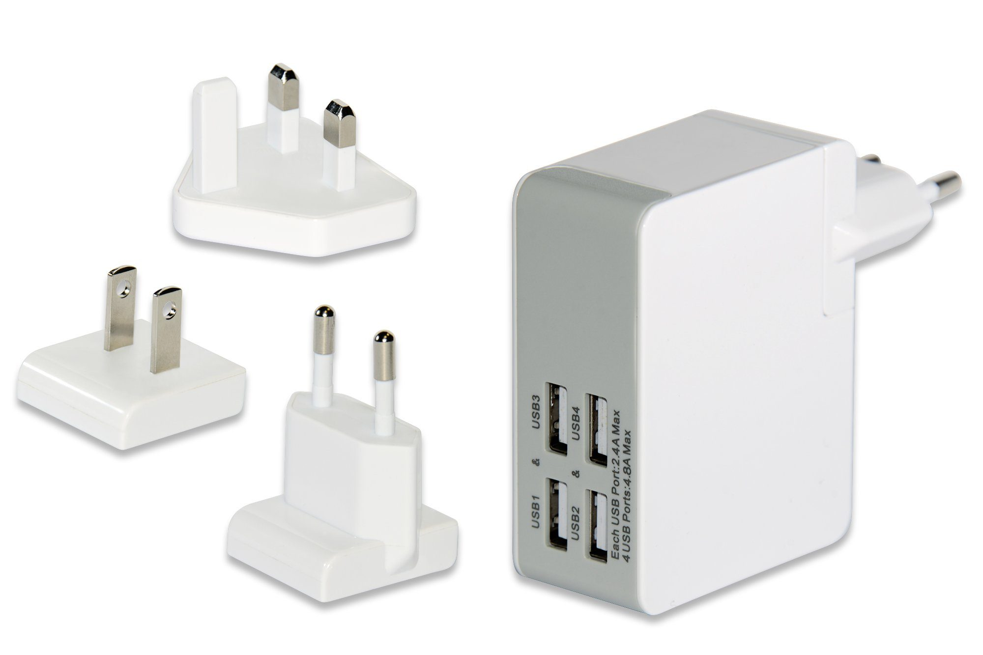 Ednet USB »4 Port USB Reise-Ladeadapter Set«