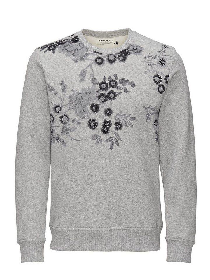 Jack & Jones Rundhalsausschnitt- Sweatshirt in Light Grey Melange