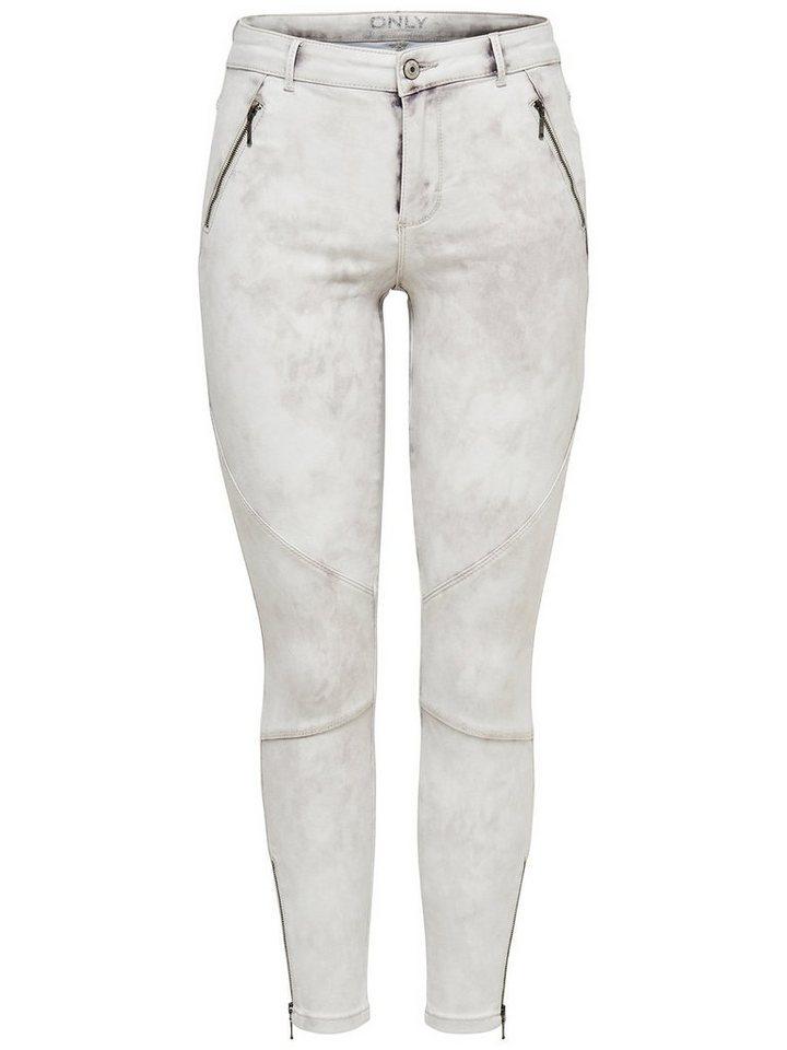 Only Moto royal Knöchel- Skinny Fit Jeans in Grey Denim