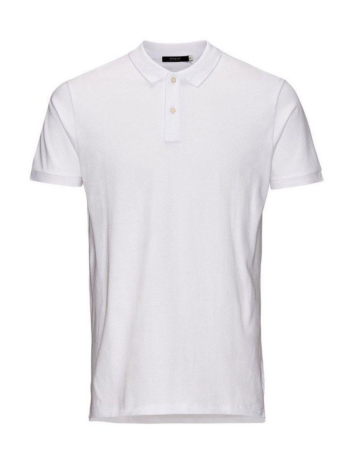 Jack & Jones Strukturiertes Poloshirt in White