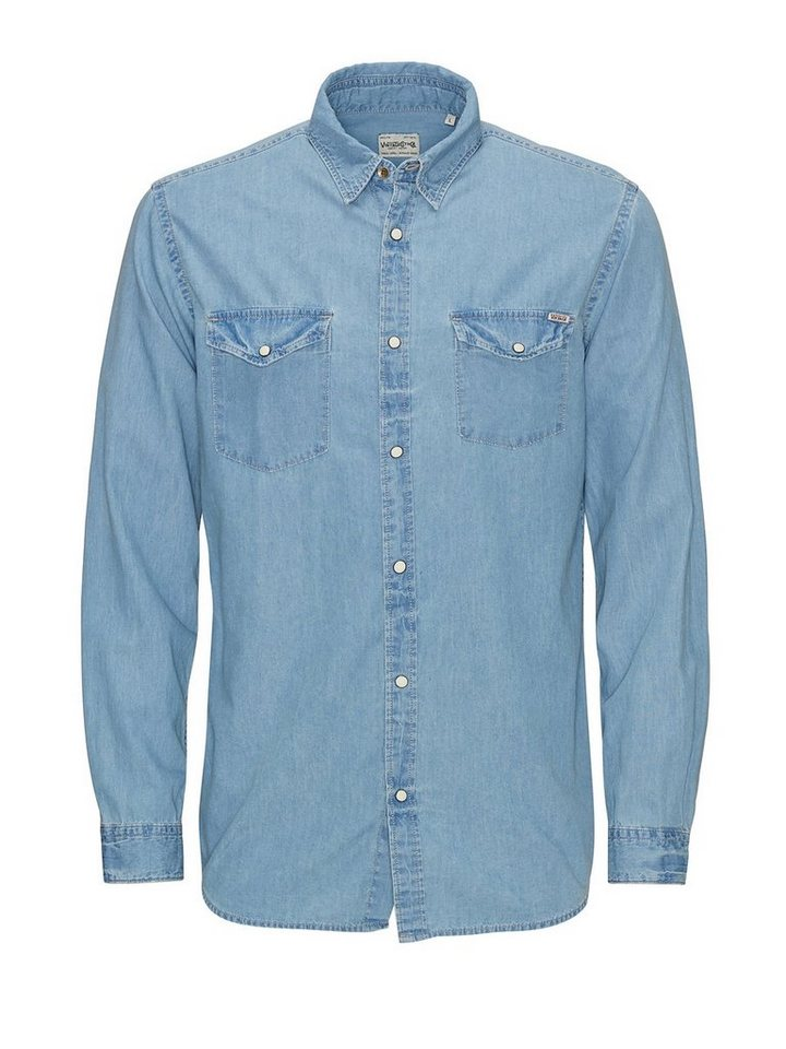Jack & Jones Jeans- Hemd in Light Blue Denim