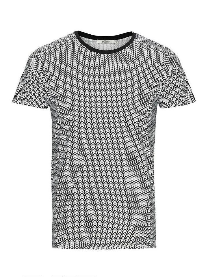 Jack & Jones Minimalprint T-Shirt in White 2