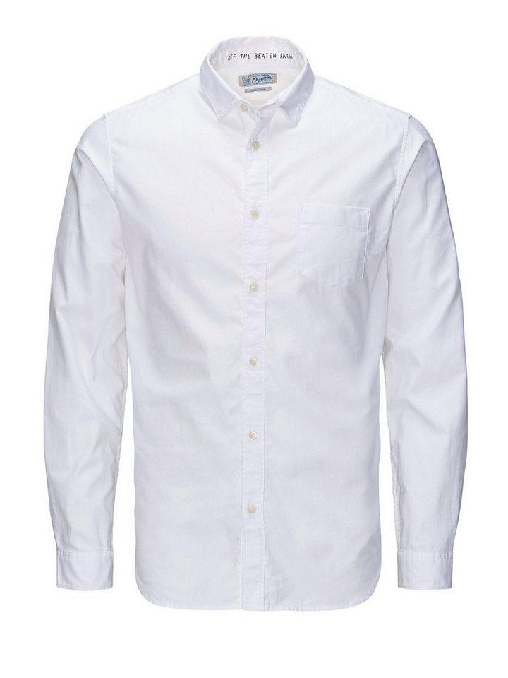 Jack & Jones Klassisches 1-Taschen- Freizeithemd in White