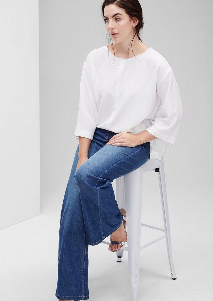 TRIANGLE Curvy: Wideleg-Jeans in azur