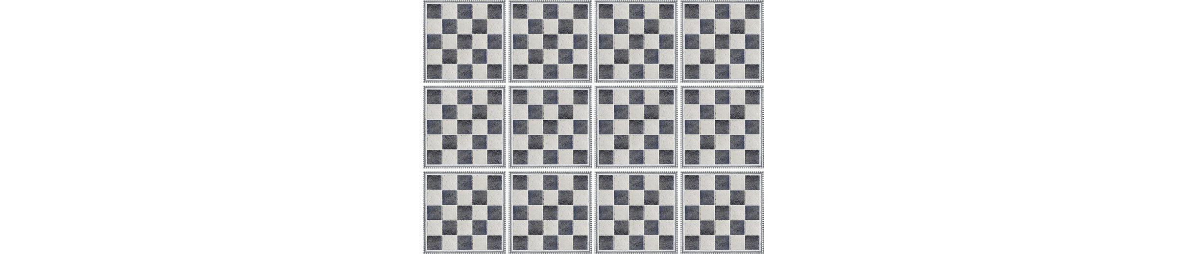 Home affaire Fliesenaufkleber »graphisch«, 12x 15/15 cm