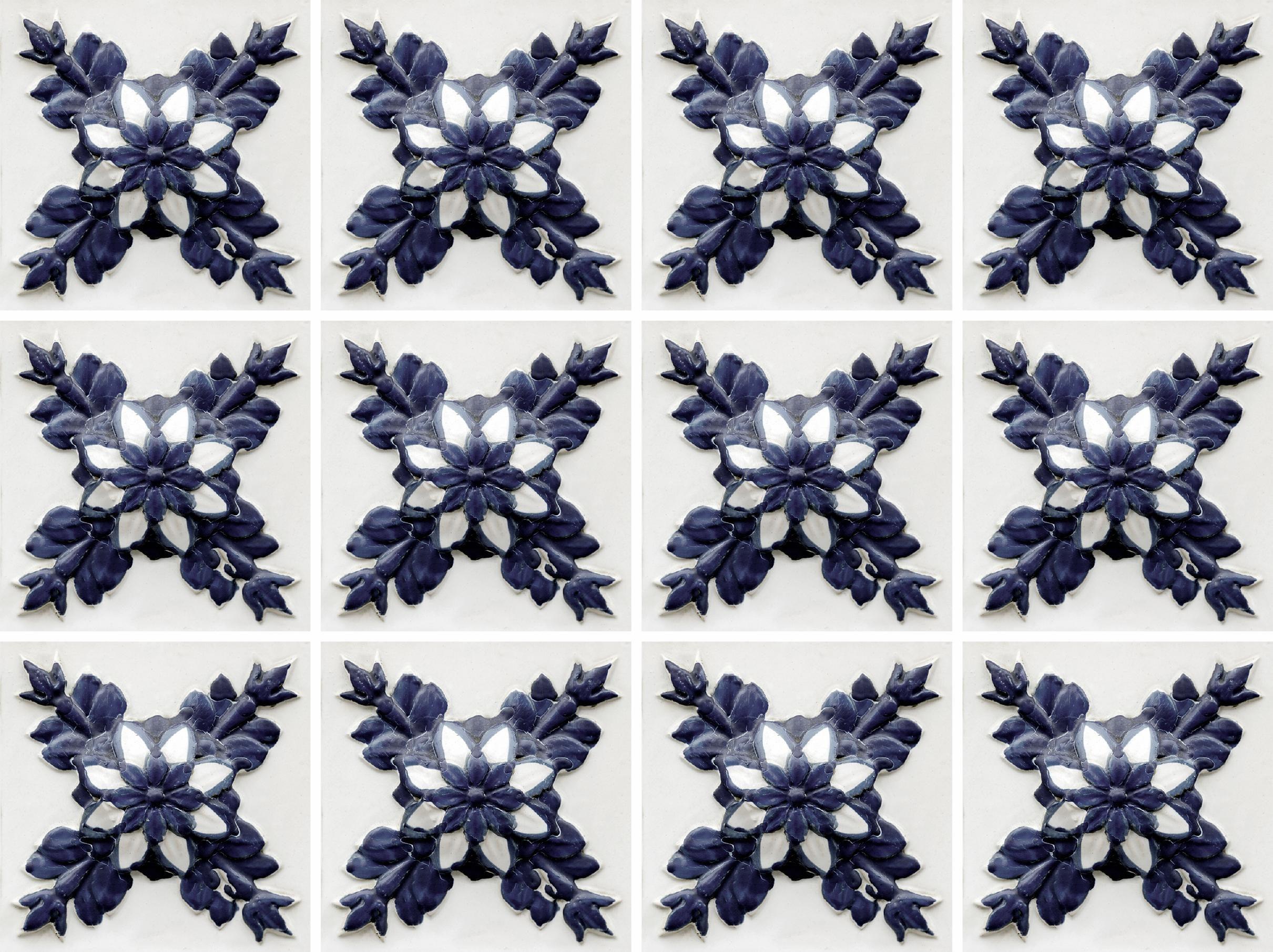 Home affaire Fliesenaufkleber »floral«, 12x 15/15 cm