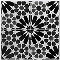 Home affaire Fliesenaufkleber »floral«, 12x 15/15 cm in grau/weiß