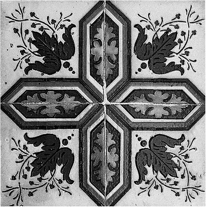 Home affaire Fliesenaufkleber »Ornamente«, 12x 15/15 cm in grau/anthrazit