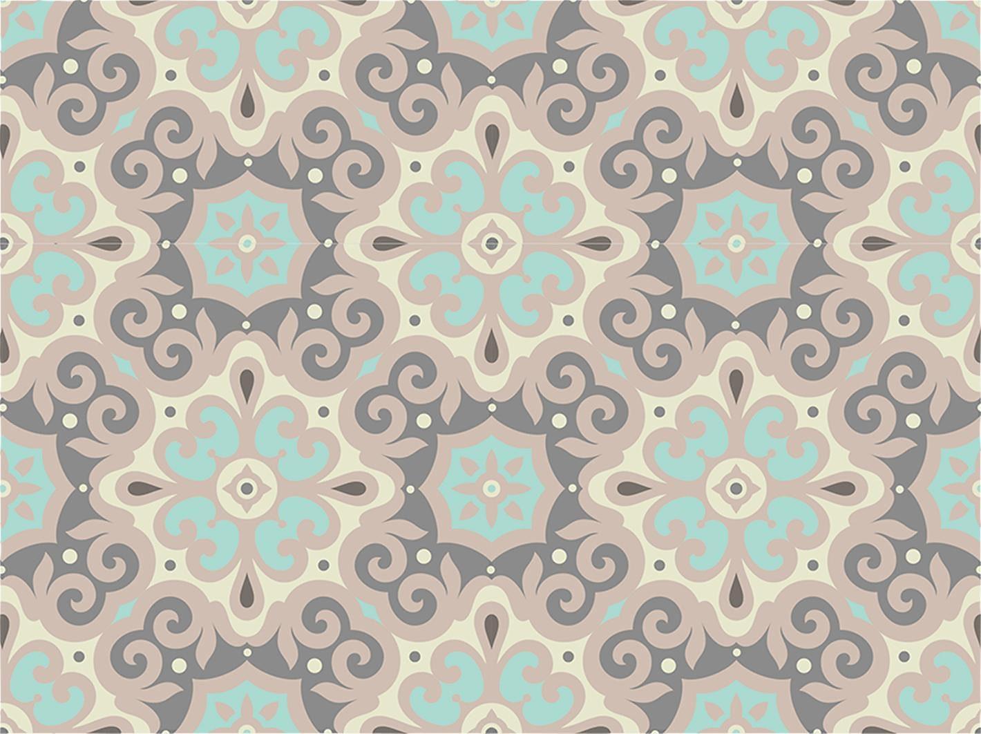 Home affaire Fliesenaufkleber »Ornamente«, 12x 15/15 cm, in harmonischer Farbkombination