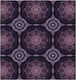 Home affaire Fliesenaufkleber »Ornamente«, 12x 15/15 cm in grau/lila