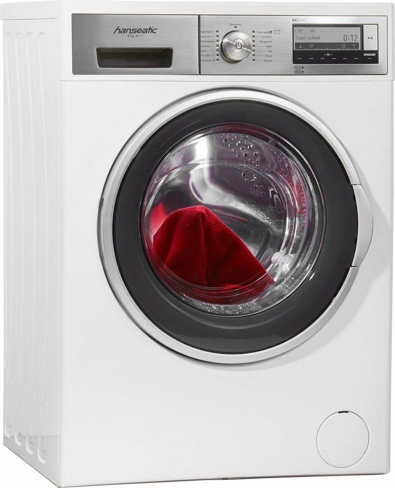 Hanseatic Waschmaschine HWM814A3D, A+++, 8 kg, 1400 U/Min in weiß