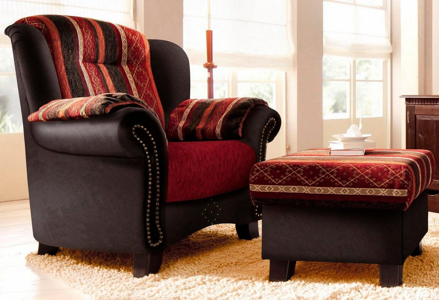 leder sessel im kolonialstil preisvergleiche erfahrungsberichte und kauf bei nextag. Black Bedroom Furniture Sets. Home Design Ideas