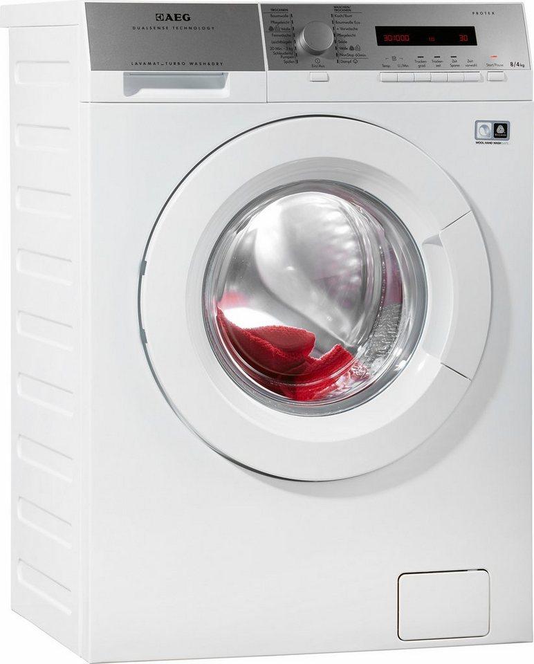 AEG Waschtrockner L16850A5, A, 8 kg / 4 kg, 1600 U/Min in weiß