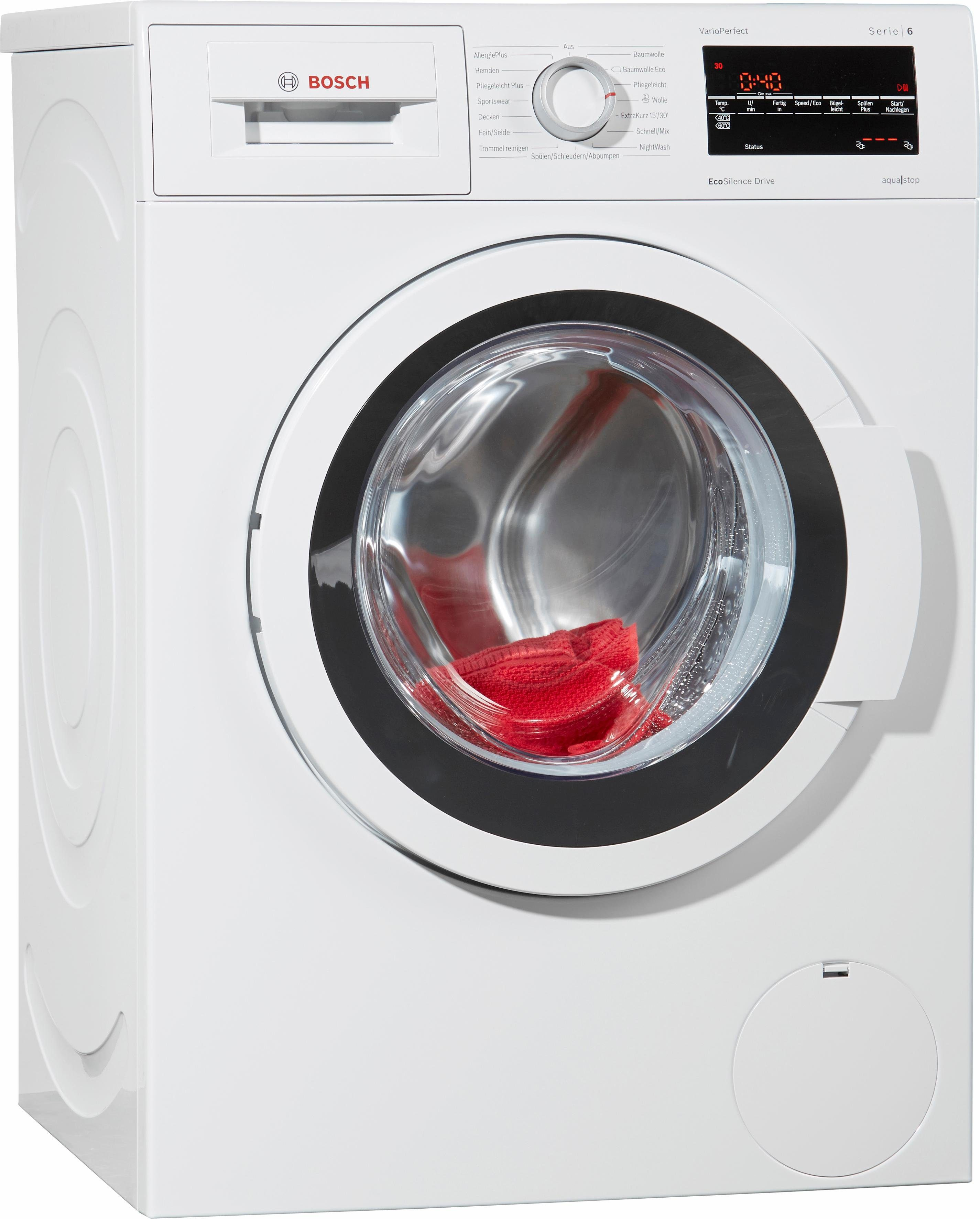 BOSCH Waschmaschine WAT284V0, A+++, 8 kg, 1400 U/Min