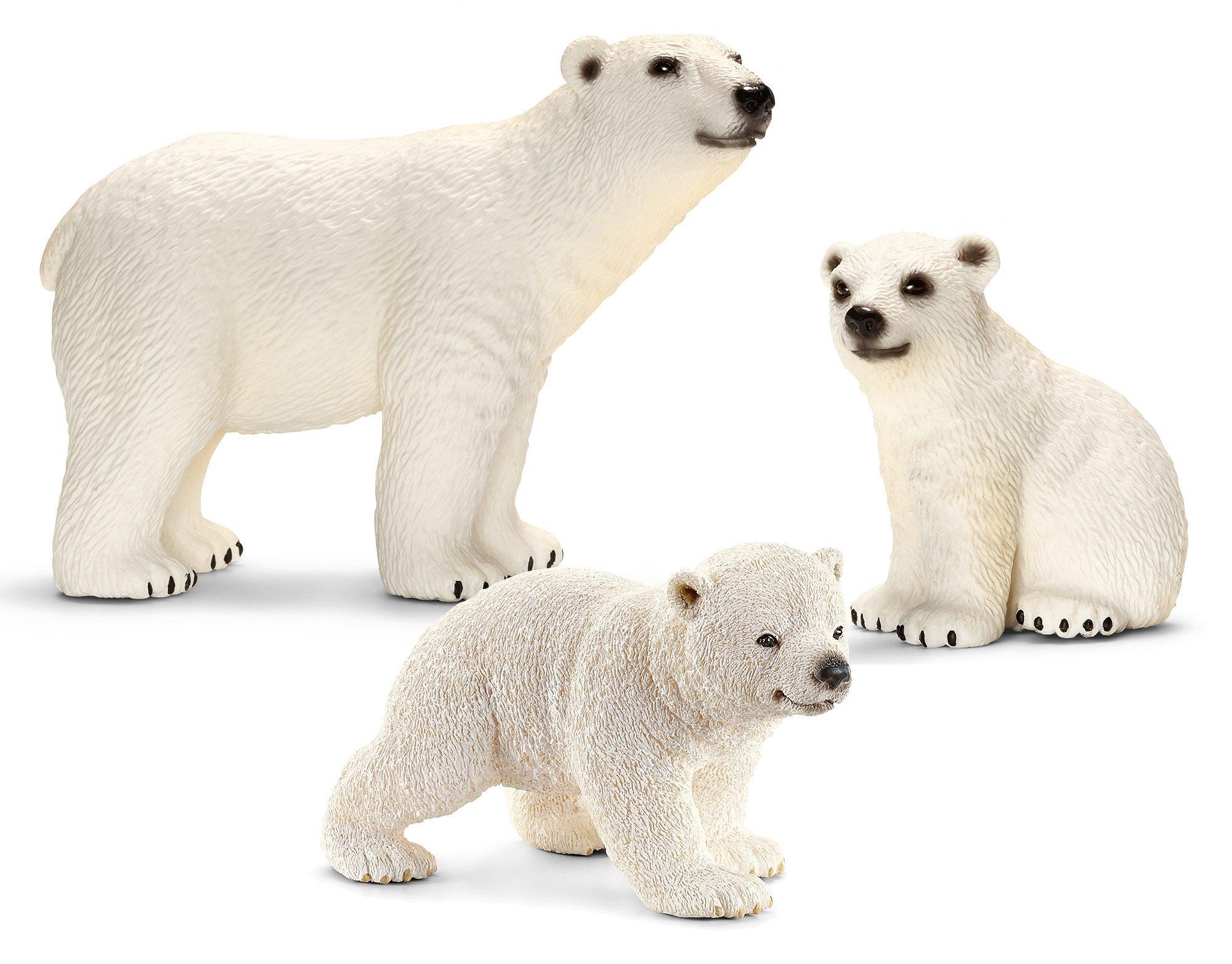 Schleich® Spielfigurenset 3-tlg., »World of Nature, Wild Life - Eisbären«