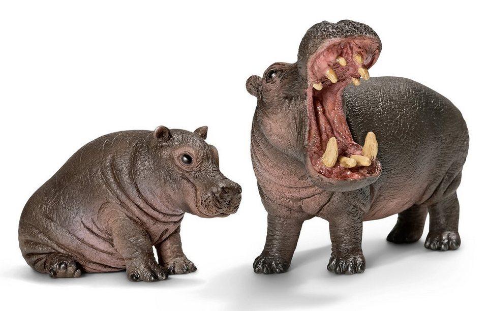 Schleich® Spielfigurenset 2-tlg., »World of Nature, Wild Life - Flusspferd«