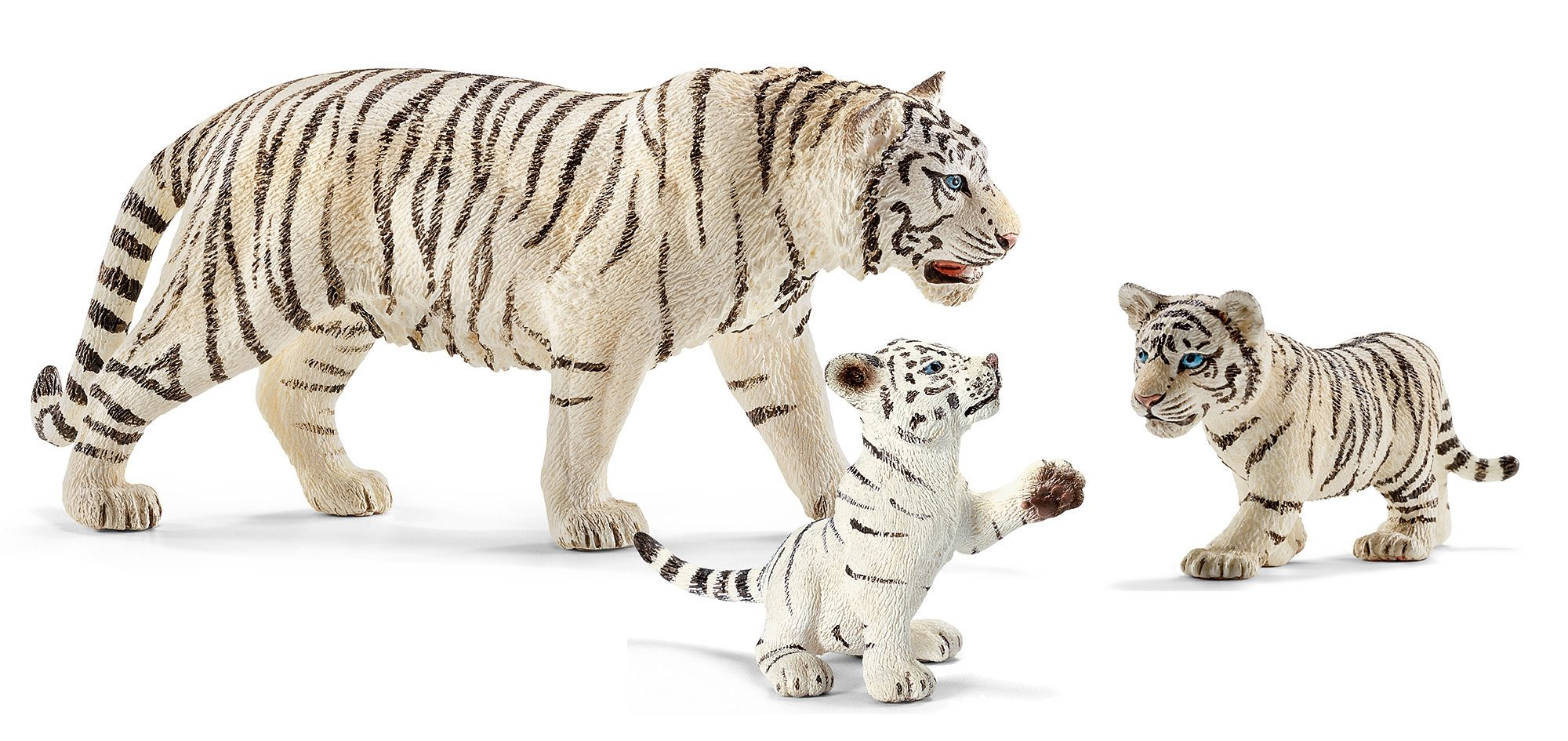 Schleich® Spielfigurenset 3-tlg., »World of Nature, Wild Life - Weißer Tiger«