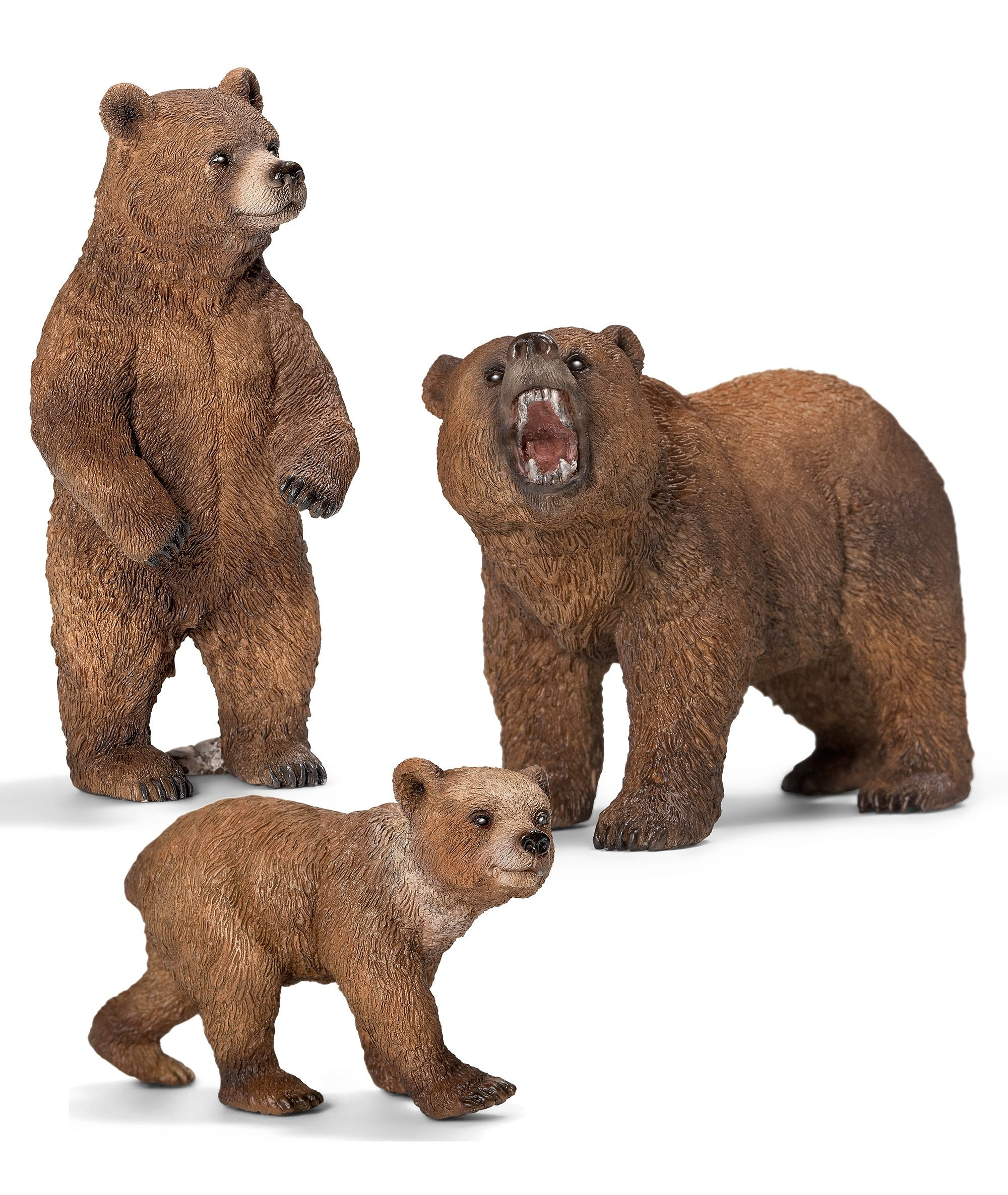 Schleich® Spielfigurenset 3-tlg., »World of Nature, Wild Life - Grizzly«