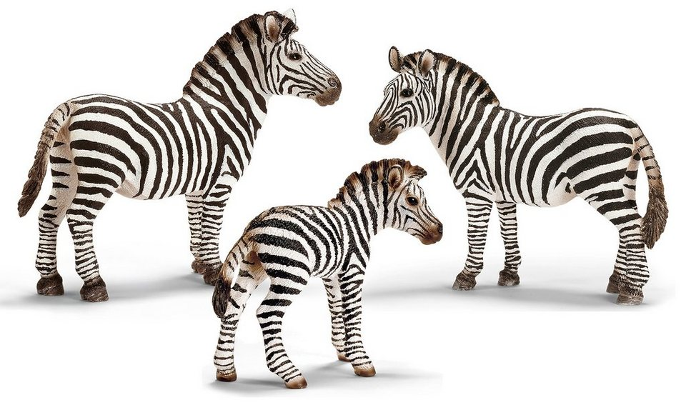 Schleich® Spielfigurenset 3-tlg., »World of Nature, Wild Life - Zebra«