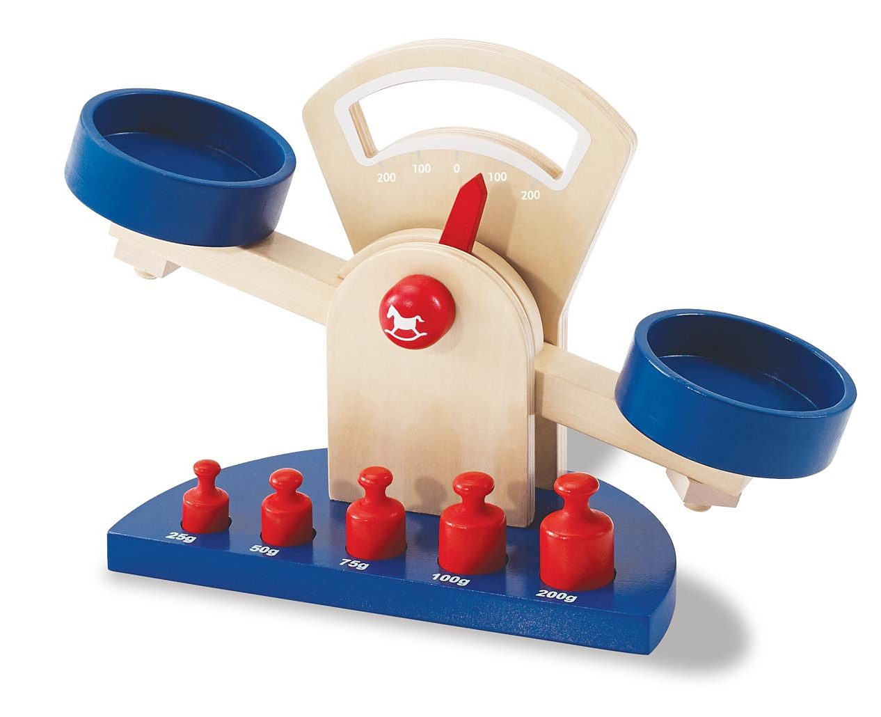 Pinolino Spielzeug Waage aus Holz, »Willy« (6tlg.)