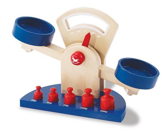 Pinolino® Kinder-Küchenwaage »Willy (6tlg)«, (Set, 6-tlg), aus Lindenholz gefertigt