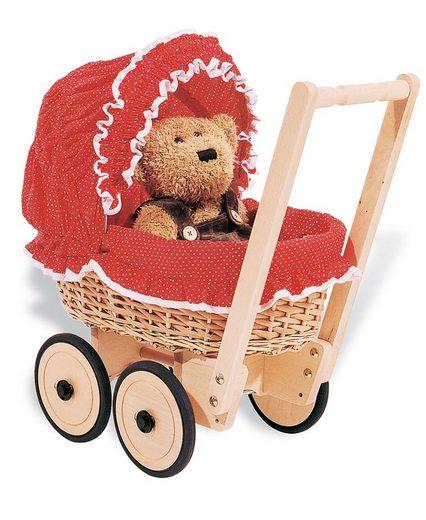 Pinolino® Puppenwagen »Mona - Pünktchen«, mit Bettzeug