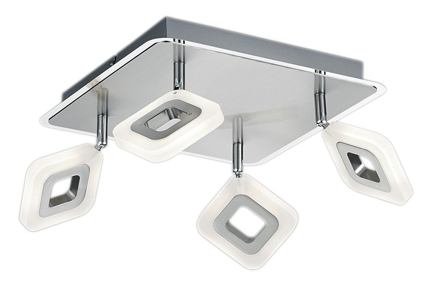 Trio LED-Deckenleuchte, 4 flg., »PARADOX« in Metall, chromfarben