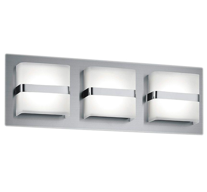 Trio LED-Wandleuchte, 3 flg., »CANTURO« in Metall, nickel matt, Kunststoff weiß