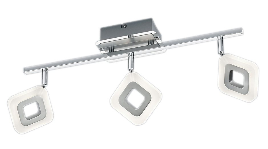 Trio LED-Deckenleuchte, 3 flg., »PARADOX« in Metall, chromfarben