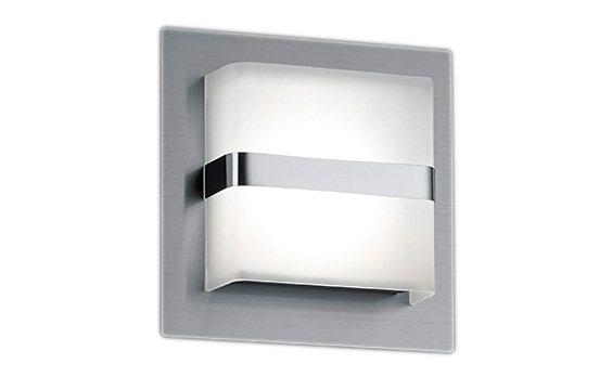 Trio LED-Wandleuchte, 1 flg., »CANTURO« in Metall, nickel matt, Kunststoff weiß