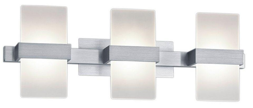 Trio LED-Wandleuchte, 3 flg., »PLATON« in Alu, Acryl weiß