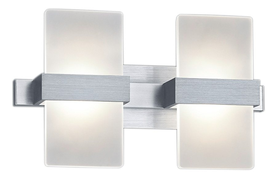 Trio LED-Wandleuchte, 2 flg., »PLATON« in Alu, Acryl weiß