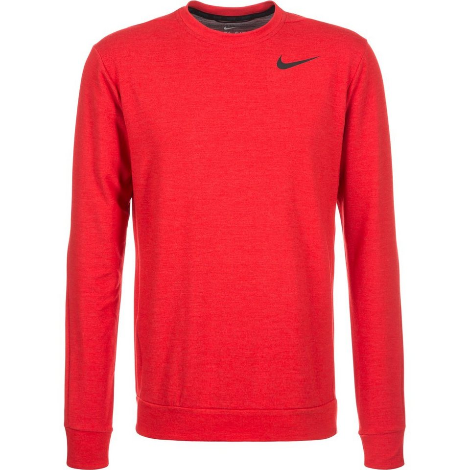 NIKE Dri-FIT Crew Trainingsshirt Herren in rot / schwarz