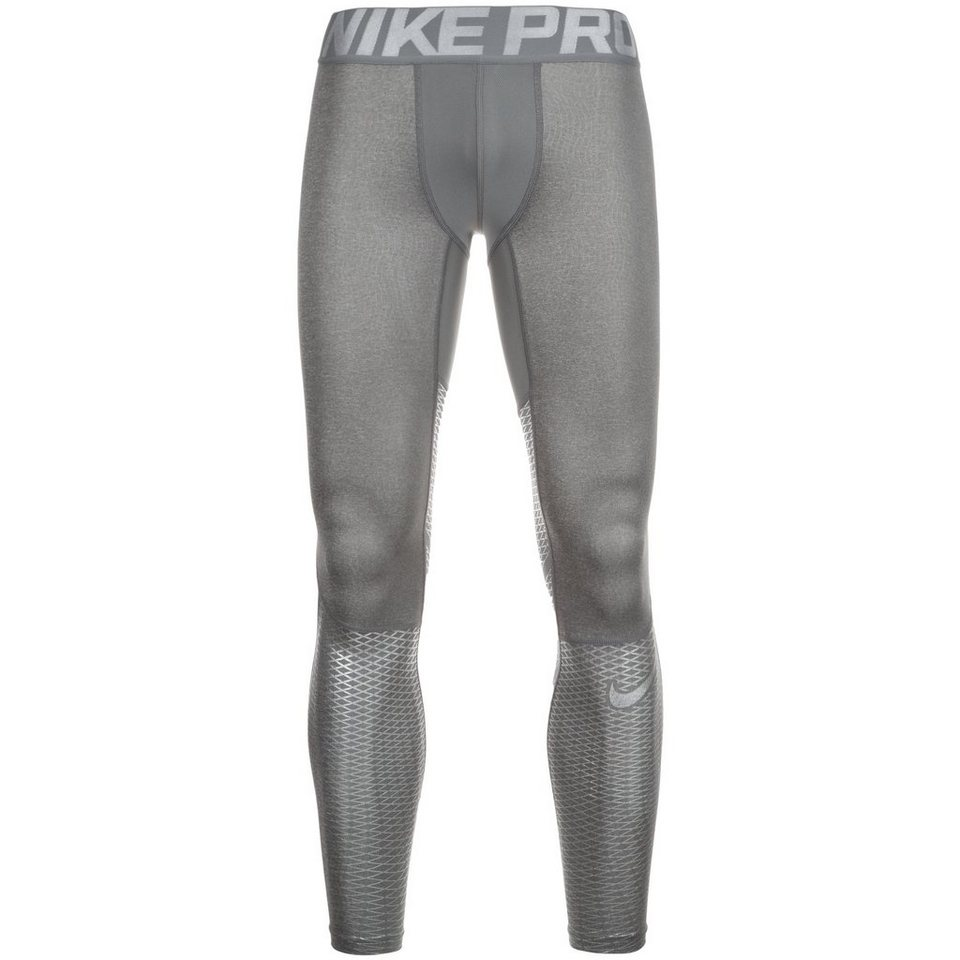 NIKE Pro Hypercool Max Trainingstight Herren in grau / silber