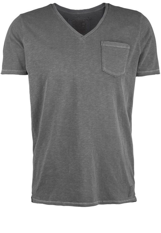 Better Rich T-Shirt »V-NECK POCKET PIGMENT« in black
