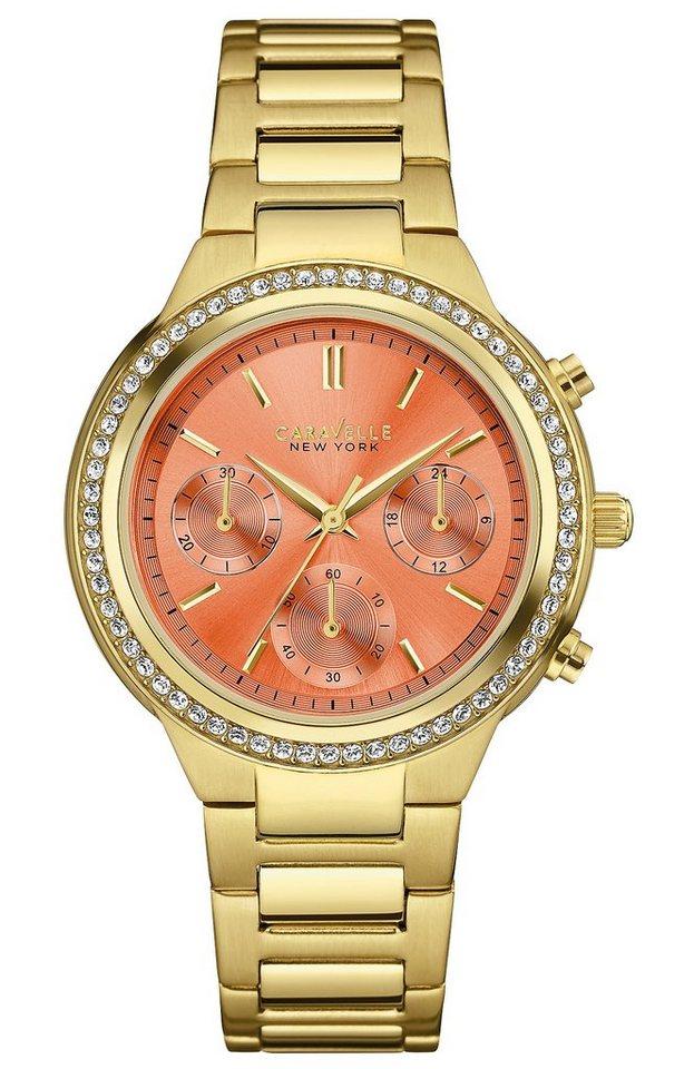 Caravelle New York Chronograph »Boyfriend, 44L218« in goldfarben