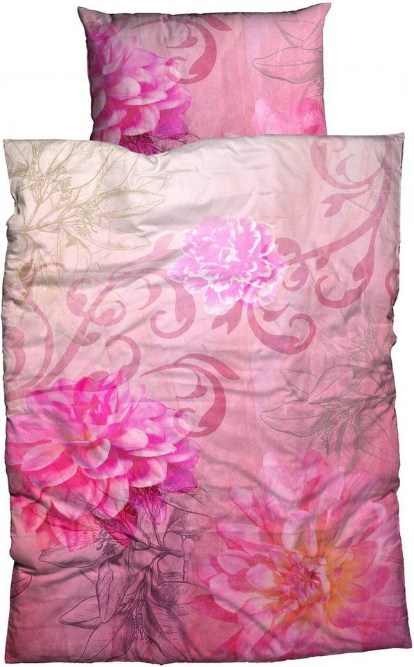 bettw sche violetta flower casatex mit bl tenmotiv online kaufen otto. Black Bedroom Furniture Sets. Home Design Ideas
