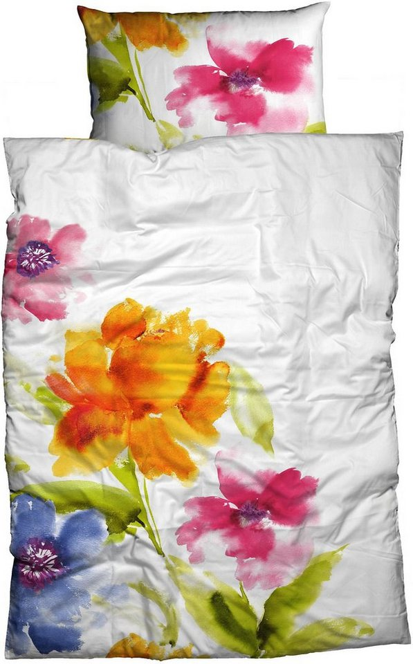Bettwäsche, Casatex, »Salina«, mit großen Blüten in multi