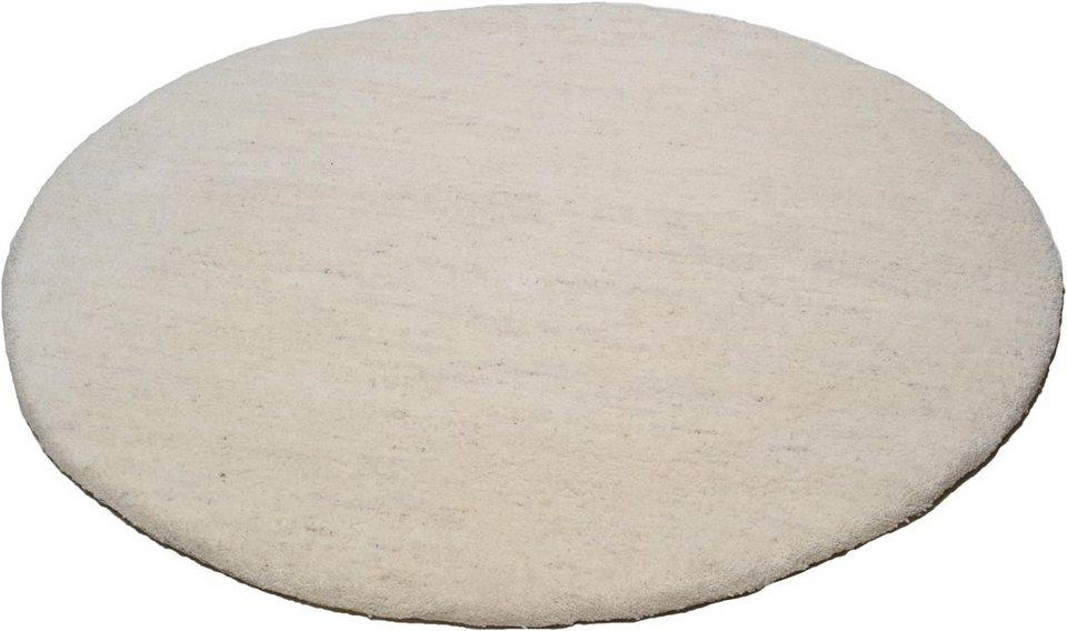 Teppich, rund, Theko, »Amravati«, Reine Schurwolle, Echt Berber, handgeknüpft in jaspe