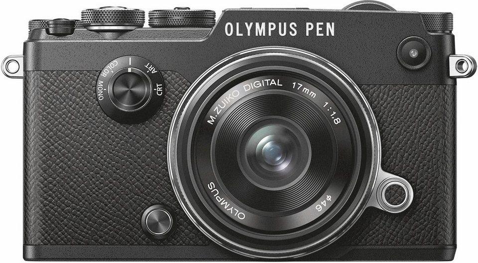 Olympus PEN-F System Kamera, 17mm 1:1.8 Kit Pancake, 20,3 Megapixel, 7,6 cm (3 Zoll) Display in schwarz