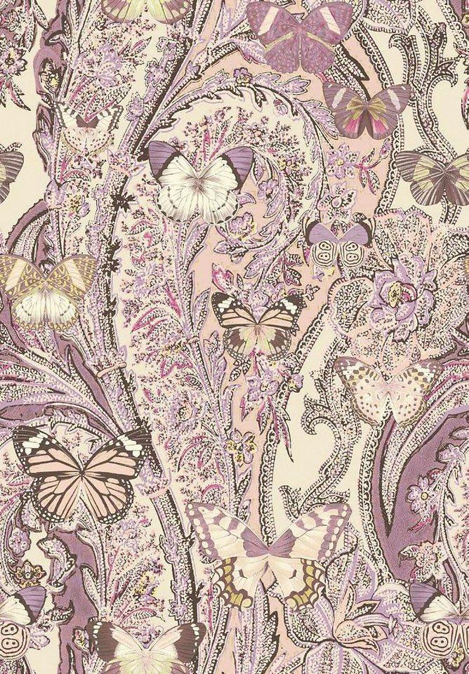 Tagesdecke, Zucchi, »Papillons«, mit Schmetterlingen in rosa