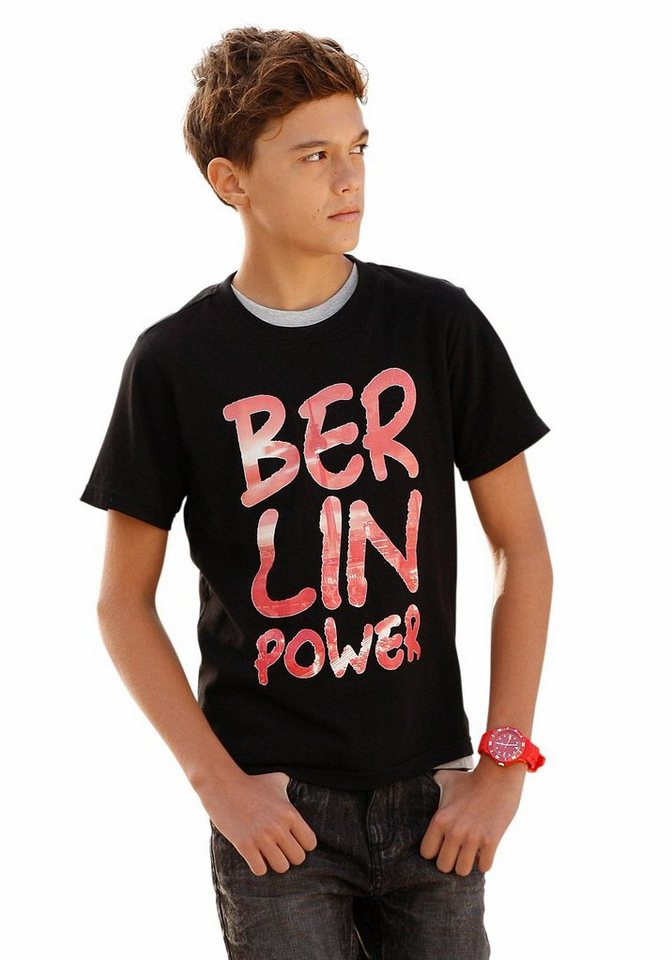 "Buffalo T-Shirt ""BERLIN POWER"" in schwarz"