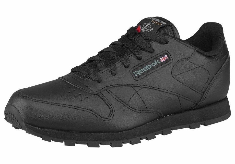 Reebok Classic Leather Sneaker in Schwarz