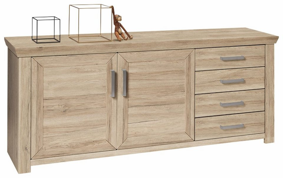 set one by musterring sideboard york san remo sand breite 184 cm online kaufen otto. Black Bedroom Furniture Sets. Home Design Ideas