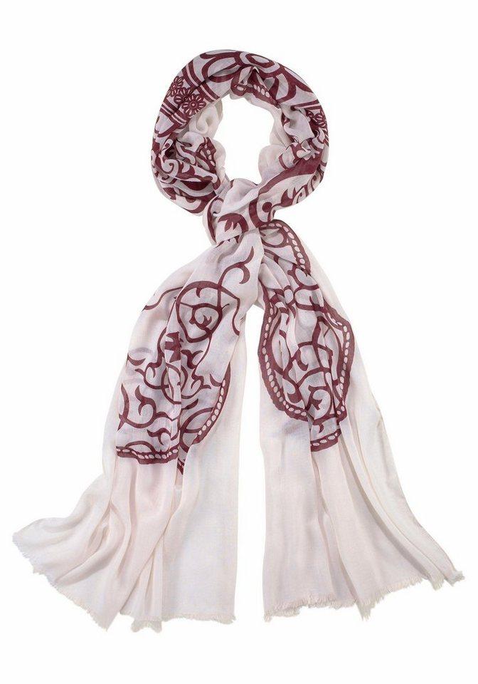 J. Jayz Modeschal mit auffälligem Muster in weiß-bordeaux