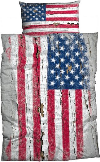 Bettwäsche »Stars & Stripes«, CASATEX, mit Flagge